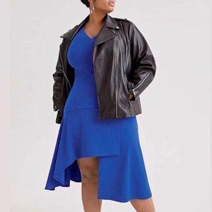 NWT VINCE CAMUTO BLUE ASYMMETRIC HEM DRESS SIZE 18